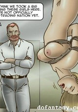 Bdsm sex loving cartoon guy fucking enslaved chick while her husband is watching.